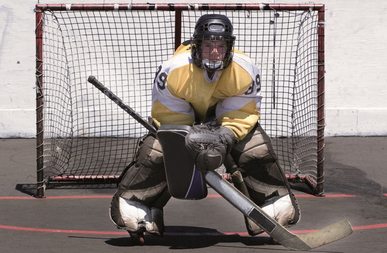 Roller hockey and inline hockey goal nets