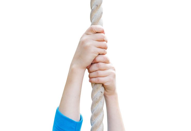 Climbing ropes and rope ladders